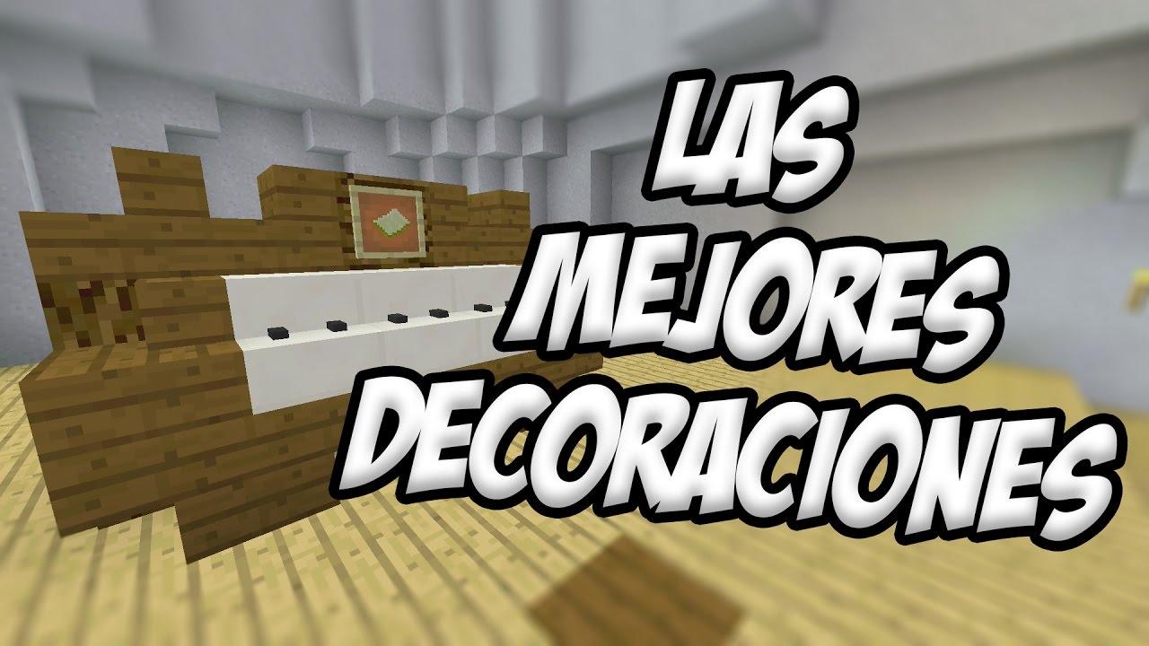 Top 5 Las Mejores Decoraciones De Minecraft 3 Tutorial Decoracion Youtube Decoracion De Unas Minecraft Que Te Mejores