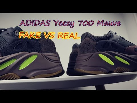 c519faa20 FAKE VS REAL adidas Yeezy 700 Mauve - YouTube