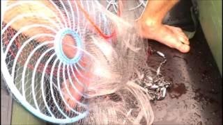 АЗОВ СЕТИ | Кастинговая сеть с БОЛЬШИМ кольцом заброс с резиновой лодки (azovseti.ru)