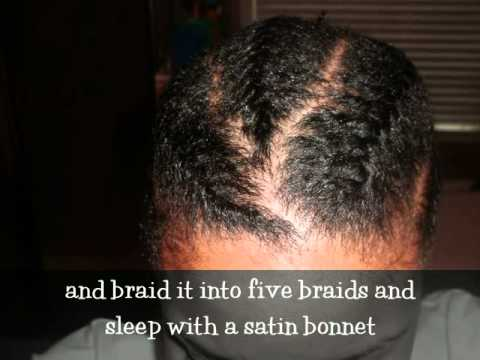(#3) Braidout on Short Transitioning Hair - YouTube