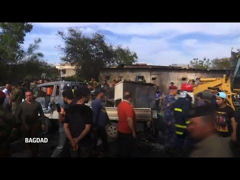 Un muerto, 12 heridos por bomba en mercado de Bagdad