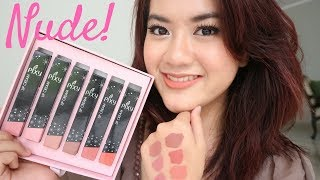 LIP CREAM LOKAL - PIXY NUDE SERIES NO 7-12 REVIEW & SWATCH