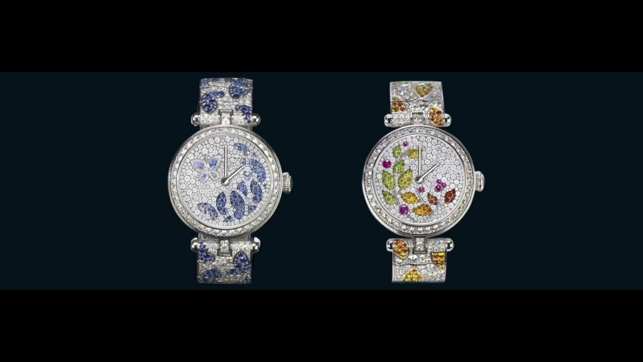 Lady Jour des Fleurs and the Lady Nuit des Papillons watches - Van Cleef & Arpels