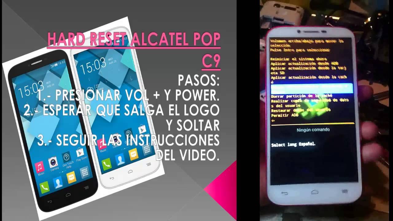 HARD RESET ALCATEL POP C9 (Borrar patrón Alcatel pop C9