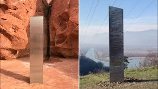 video: Second monolith spotted in Romania after Utahdesert  mystery