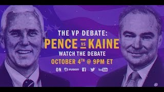 LIVE Vice Presidential Debate: Mike Pence vs. Tim Kaine
