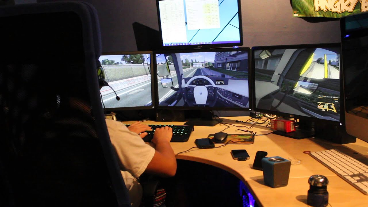 Euro Truck Simulator 2 On Nvidia Surround Three Monitors