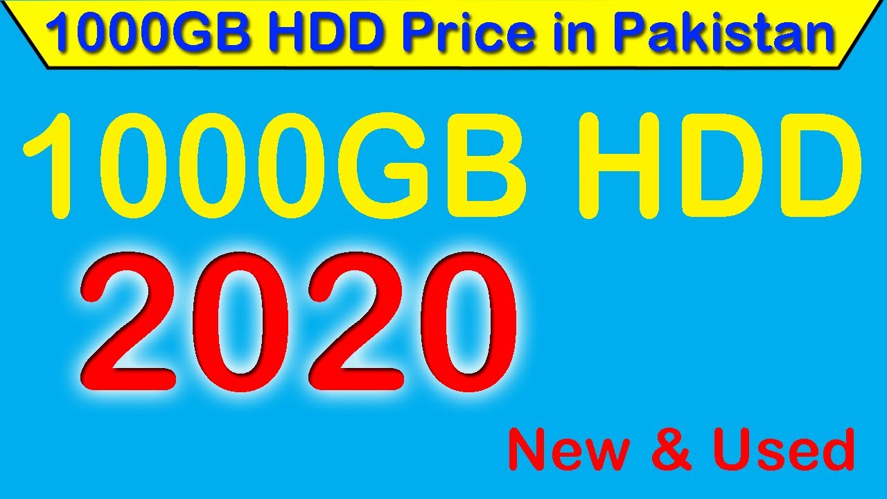 1000 Gb Hard Disk Price In Pakistan New Used Youtube