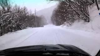 Subaru legacy in snow 2