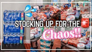 HUGE 2 WEEK STOCKPILE GROCERY HAUL | LARGE FAMILY OF 6 | PREPPING FOR THE CHAOS!