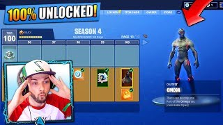 *NEW* SEASON 4 - TIER 100 SKIN (UNLOCKED) - Fortnite: Battle Royale!