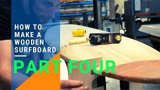 How To Make A Wooden Surfboard part 4 - 8' Mini Mal from DIY surfboard kits