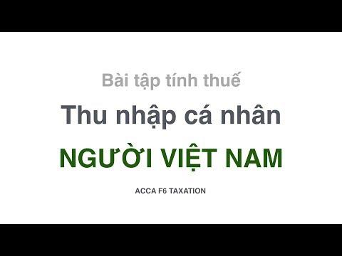 Bài Tập Thuế Thu Nhập Cá Nhân Cho Người Việt Nam || Thu Nhập Từ Tiền Lương Tiền Công