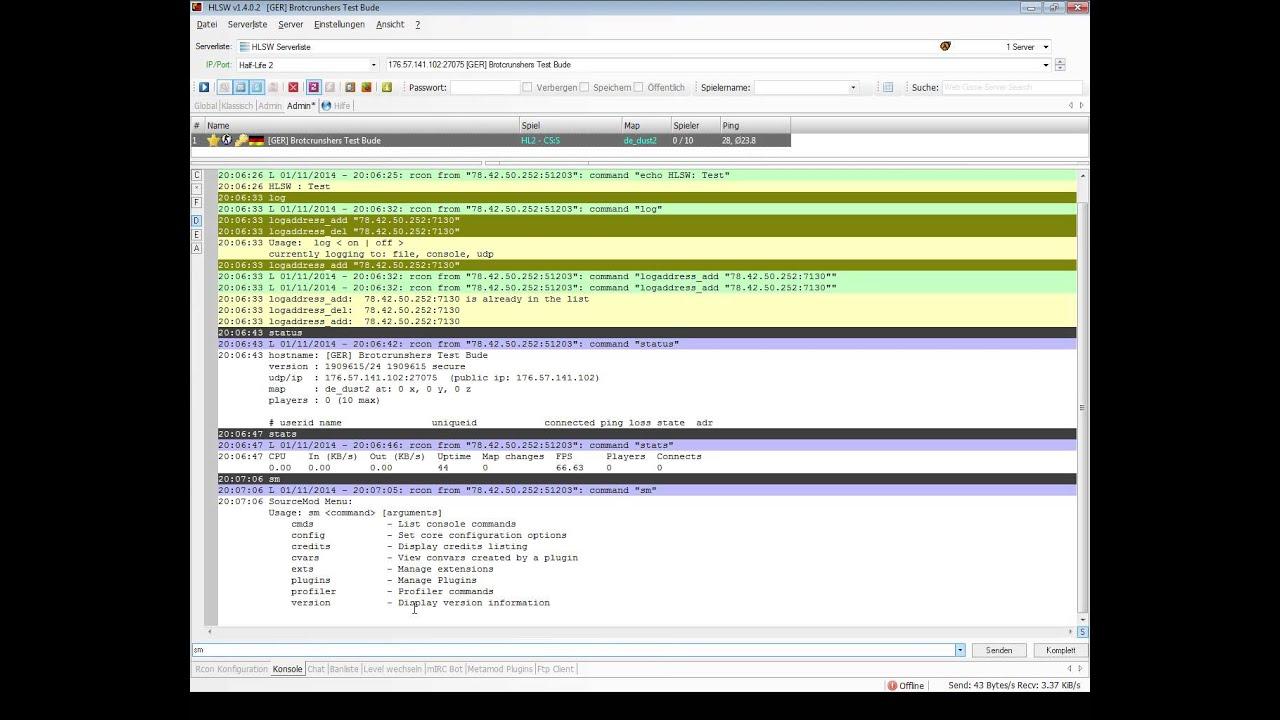 Gameserver & SourceMod Plugins mit HLSW verwalten