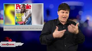 Idris Elba named people magazine's 'Sexiest Man Alive' (ASL - 11.6.18)