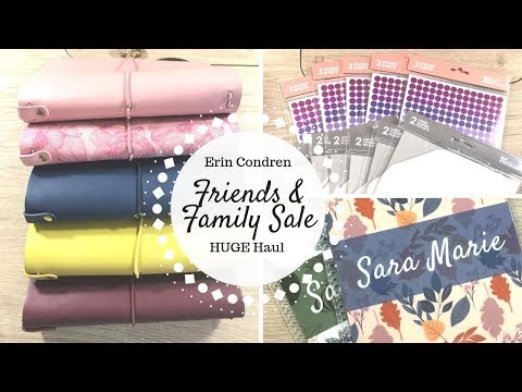 H U G E Erin Condren Haul | Friends & Family Sale | On The Go Folios, Customized Covers, & MORE |