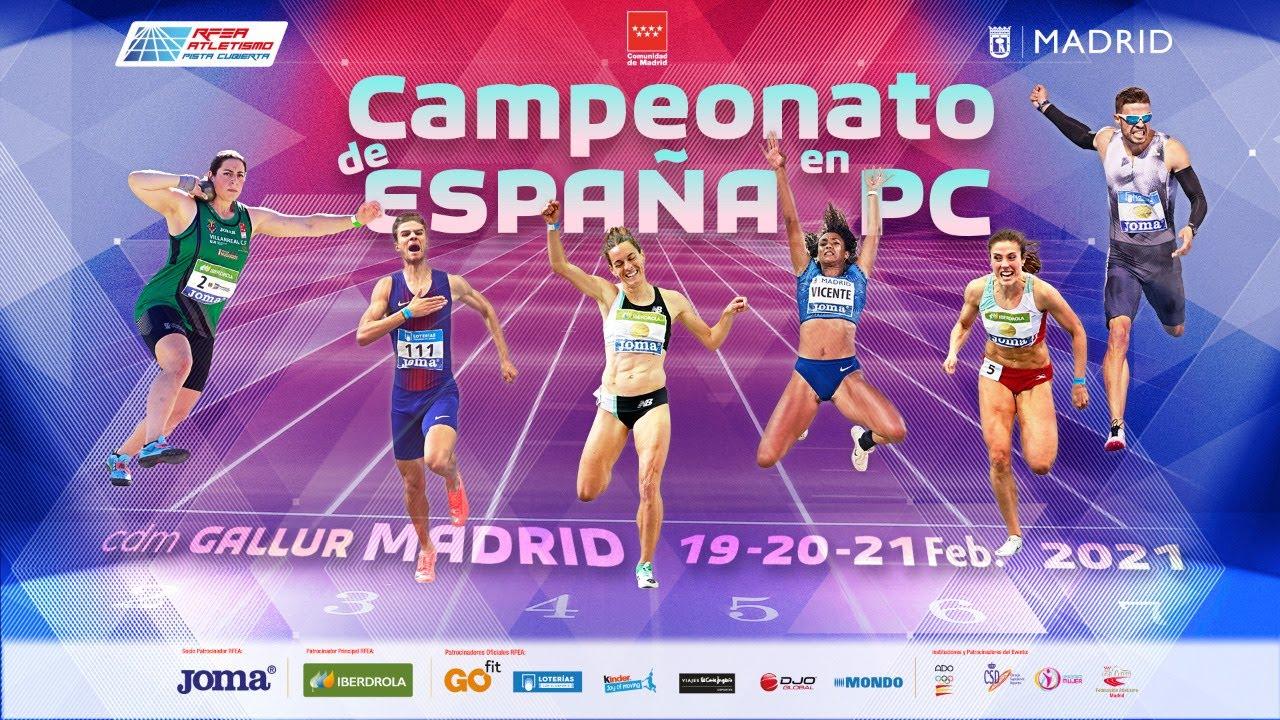 LVII Campeonato de España Absoluto en Pista Cubierta – Madrid (SÁBADO) MULTIPANTALLA