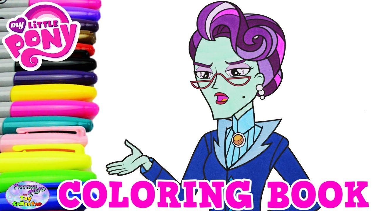 my little pony coloring book principal cinch episode surprise egg