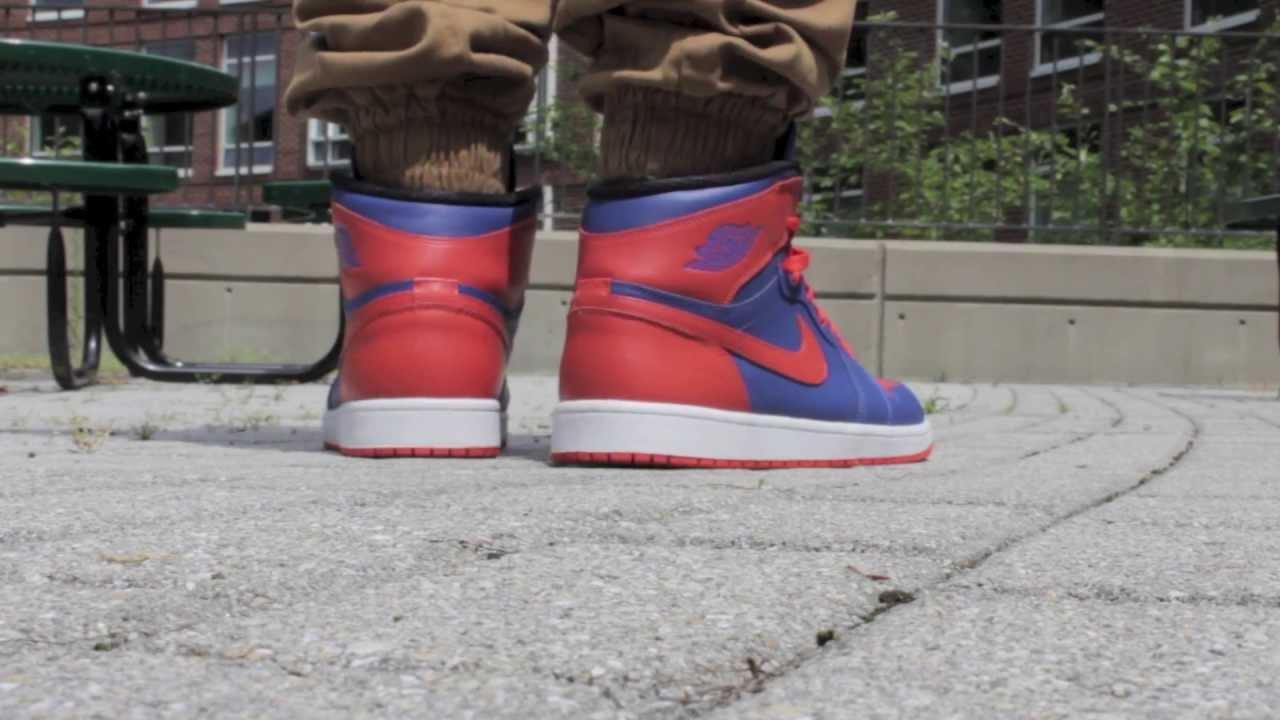 Jordan 1 High OG on Feet - New York Knicks - YouTube 1b5bf28cd