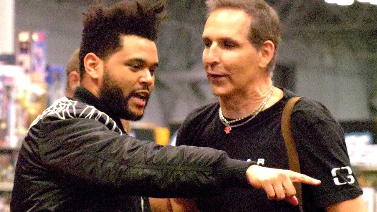 The Weeknd And Todd Mcfarlane Say Hi From Comic Con Nycc 2017 Youtube