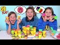 Making Food out of Play-Doh Challenge! SuperHero Kids Challenges