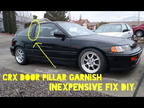 How To Fix CRX Door Pillar Garnish Plastic