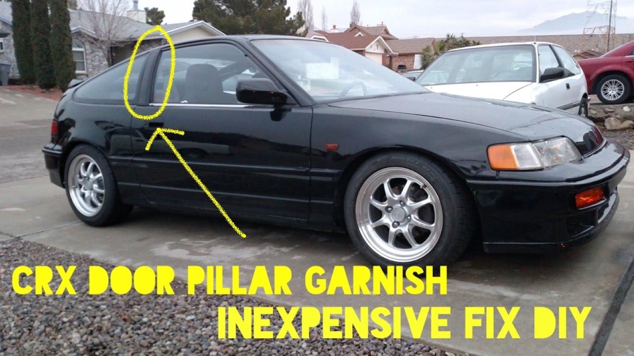How To Fix Honda CRX Door Pillar Garnish Plastic & How To Fix Honda CRX Door Pillar Garnish Plastic - YouTube Pezcame.Com