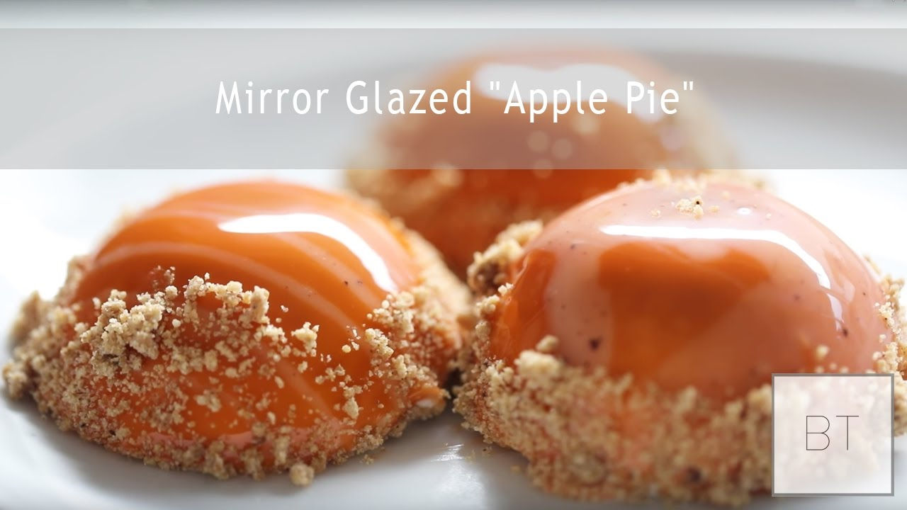 mirror glazed apple pie youtube