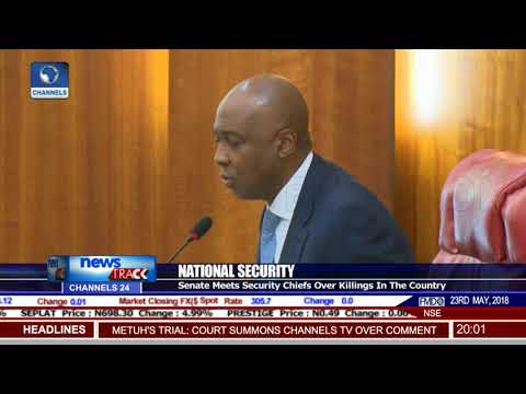 Senate Meets Security Chiefs Over Killings In The Country