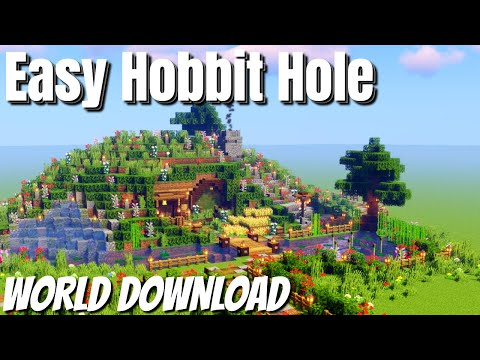 How To Build A HOBBIT HOLE In Minecraft WITH WORLD DOWNLOAD: Easy Minecraft Hobbit Hole Tutorial