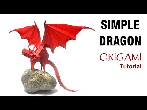 Origami Simple Dragon Tutorial (Shuki Kato) 折り紙 単純なドラゴン  оригами  Einfacher Drache