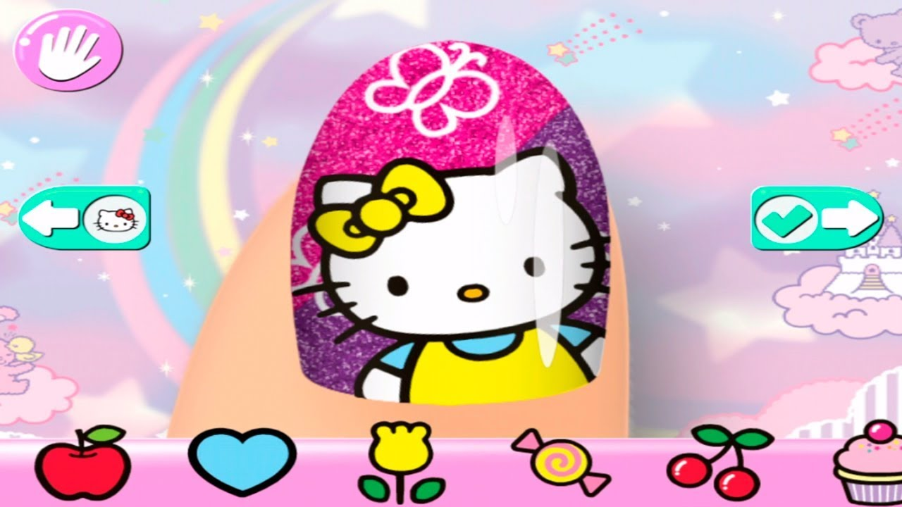 Salon de Manicura de Hello Kitty  Crea Tus Uas Decoradas Juegos