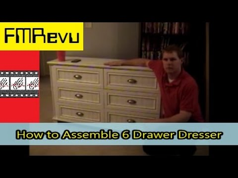How to Assemble 6 Drawer Dresser | DIY Home Renovation Project