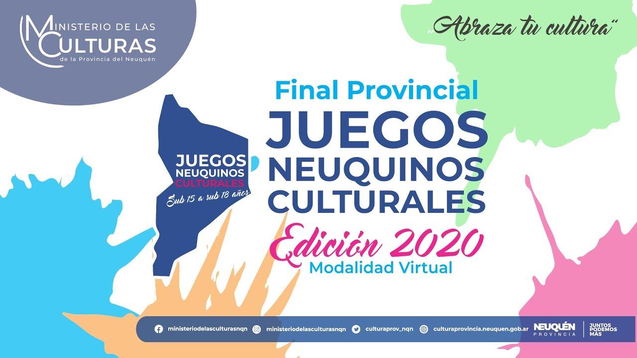"""Final Provincial de los """"Juegos Neuquinos Culturales 2020 - Modalidad Virtual"""" Categoría Sub 18"""