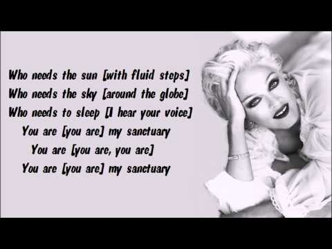 Madonna - Sanctuary Karaoke / Instrumental with lyrics on screen