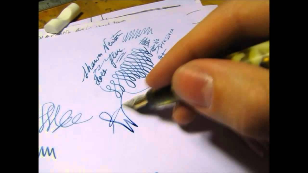 newton pens 14k soft flex fountain pen nib youtube
