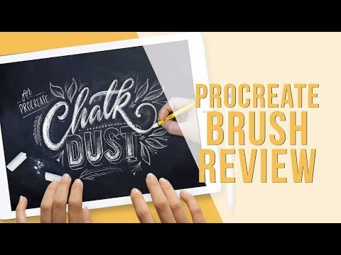 Procreate Brushes Review   Chalk Dust by Ian Barnard   Procreate Lettering Videos by Holly Pixels