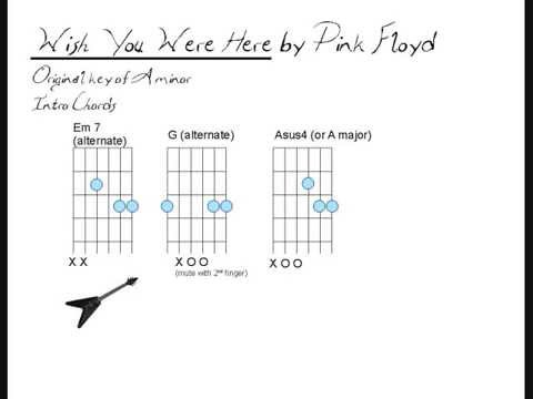 Guitar guitar tabs wish you were here : Wish You Were Here Chord Chart- Pink Floyd - YouTube
