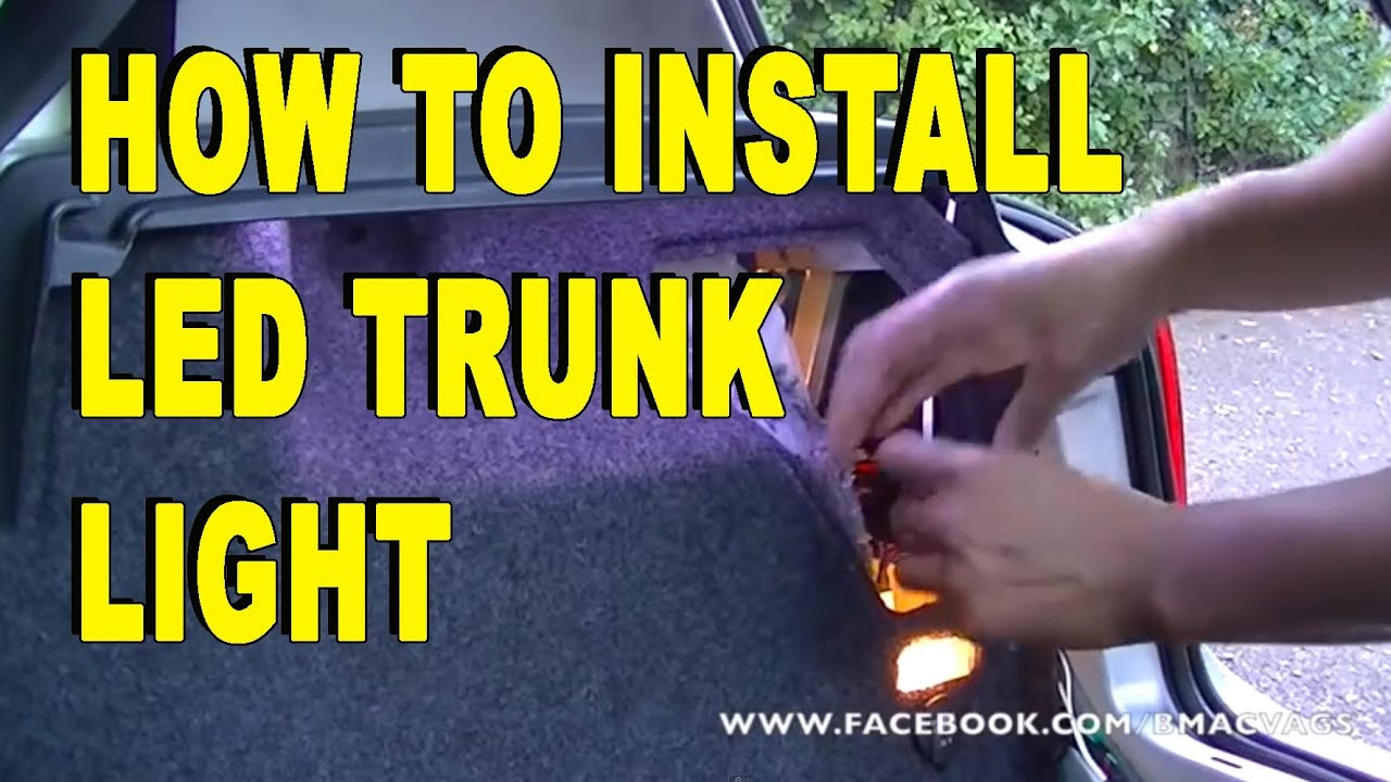 How to Install LED Strip light in to your Boot  Trunk  YouTube