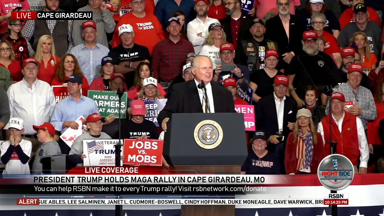 FULL: Rush Limbaugh Speech at President Trump Rally in Missouri