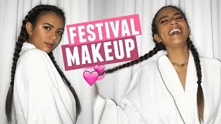 MUSIC FESTIVAL MAKEUP!! Natural Look for Osheaga Day 2: Major Lazor, Cage The Elephant, And More!