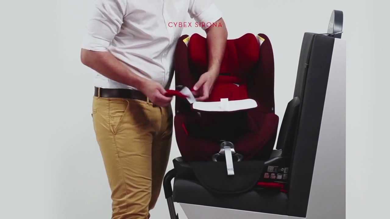 Rear facing car seat cybex sirona installation video youtube.