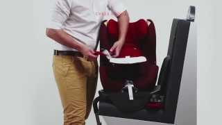Rear facing car seat CYBEX Sirona Installation video(A rear-facing child seat reduces the risk of injury in a head-on collision by more than 80 % when compared to a conventional forward-facing seat with harness ..., 2013-04-12T10:30:21.000Z)