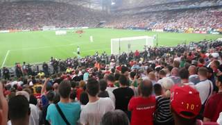 Poland vs Portugal penalties (fan camera)