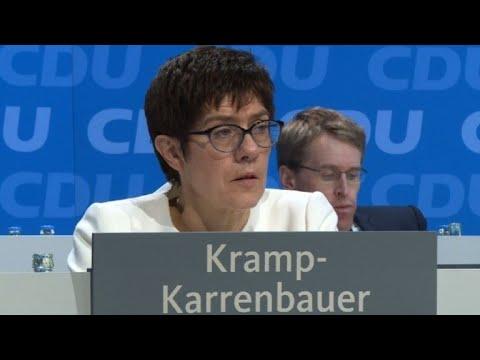 Annegret Kramp-Karrenbauer Elected Sec-Gen Of Merkel's CDU