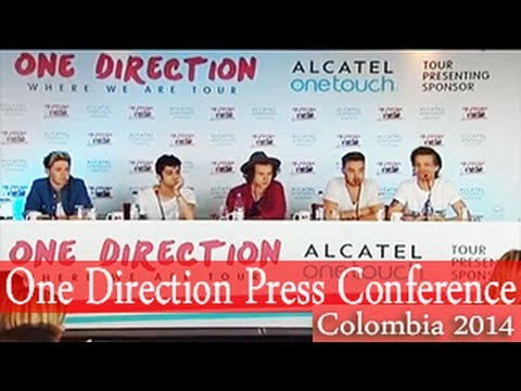 One Direction Press Conference in Colombia 2014 - [FULL VIDEO HD]