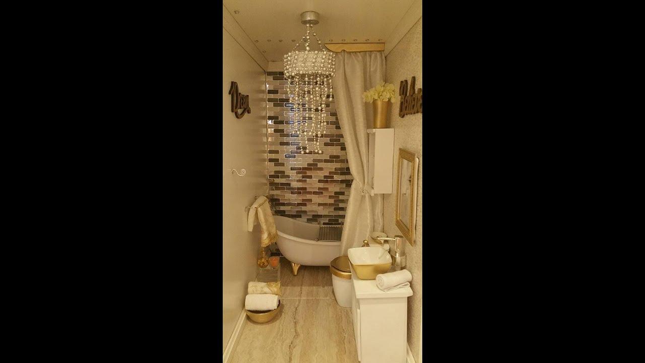 DIY American Girl Doll luxury bathroom tour - YouTube