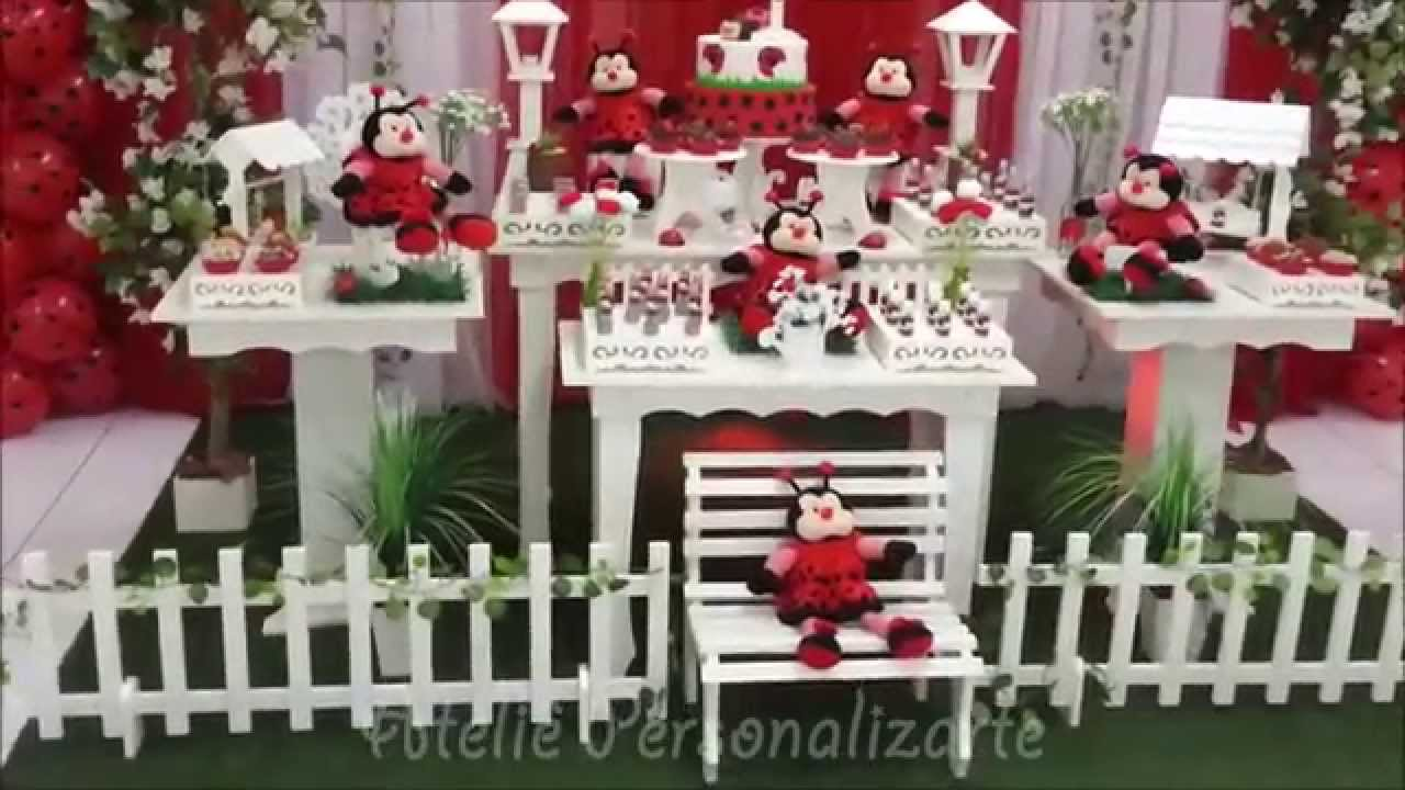Decoração de festa infantil Joaninhas  YouTube