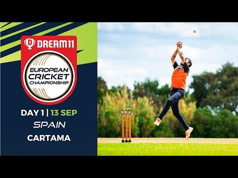 🔴 Dream11 European Cricket Championship | Day 1 Cartama Oval Spain | T10 Live Cricket
