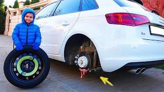 ट्रैक्टर, कार और नाव टूट गई - वीडियो संकलन
